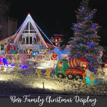Annual Boss Family Christmas Display in Charlevoix Michigan