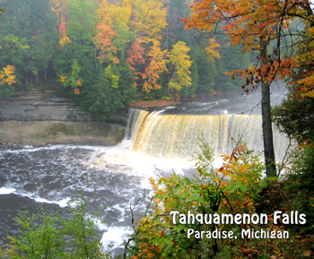 Tahquamenon Falls in Paradise Michigan