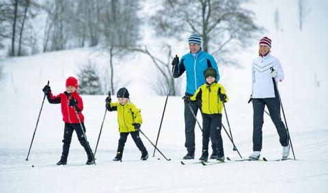 Michigan Family Cross Country Skiing