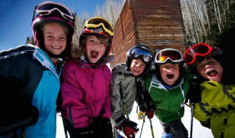 Kids Skiing in Michigan