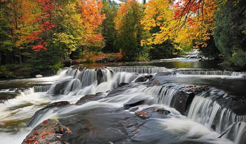 Bond Falls Michigan Fall Colors