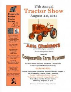 Annual Tractor Show in Coopersville