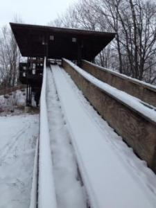 Tobogganing at City Forest, Midland Michigan