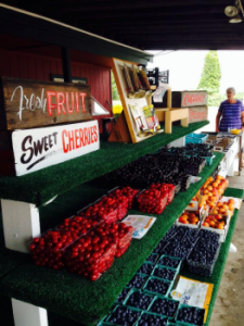 Fruit Stand at Gallaghers Farm Market Traverse City Michigan