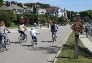 Favorite Passtime on Mackinac Island is riding bikes around the island