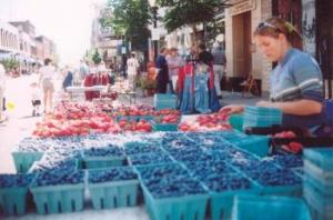 Farmers Market at Marquette Blueberry Festival