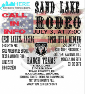 2016 Sand Lake Rodeo Flyer