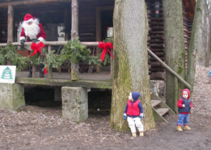 Santa sighting at Santa Experience at Peacock Road Family Farm
