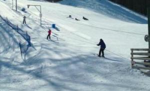 Hickory Hills Ski Area 2 advanced runs that are serviced by 5 rope tows