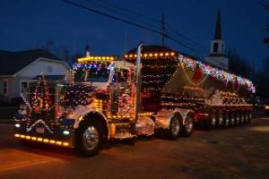 Festive Truck in the Parade at the Winterfest Celebration in Laingsburg  Michigan