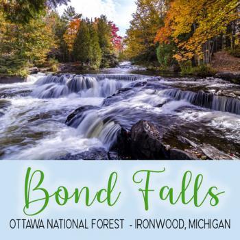 Bond Falls Ironwood, Michigan
