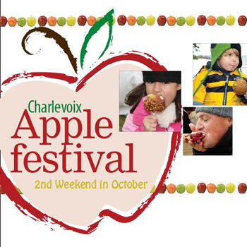Charlevoix Apple Fest each October in Charlevoix Michigan