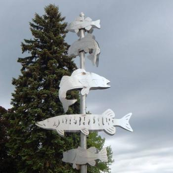 Swimming Upwind, 2010, stainless steel sculpture by James LaMalfa.