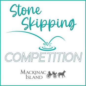 W.T. Rabe Stone Skipping Competition 4th of July on Mackinac Island