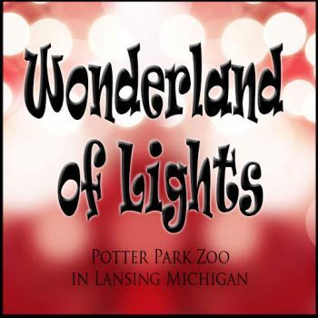 Wonderland of Lights at Potter Park Zoo in Lansing Michigan
