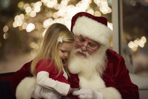 Little Girl with Santa